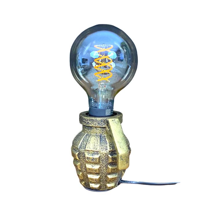 Gouden granaatlamp